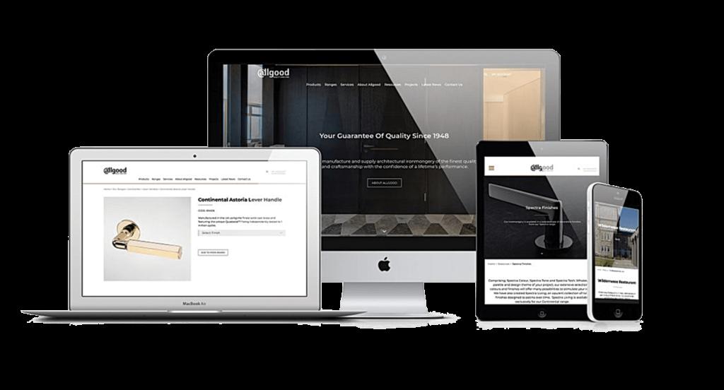 Allgood Website responsive