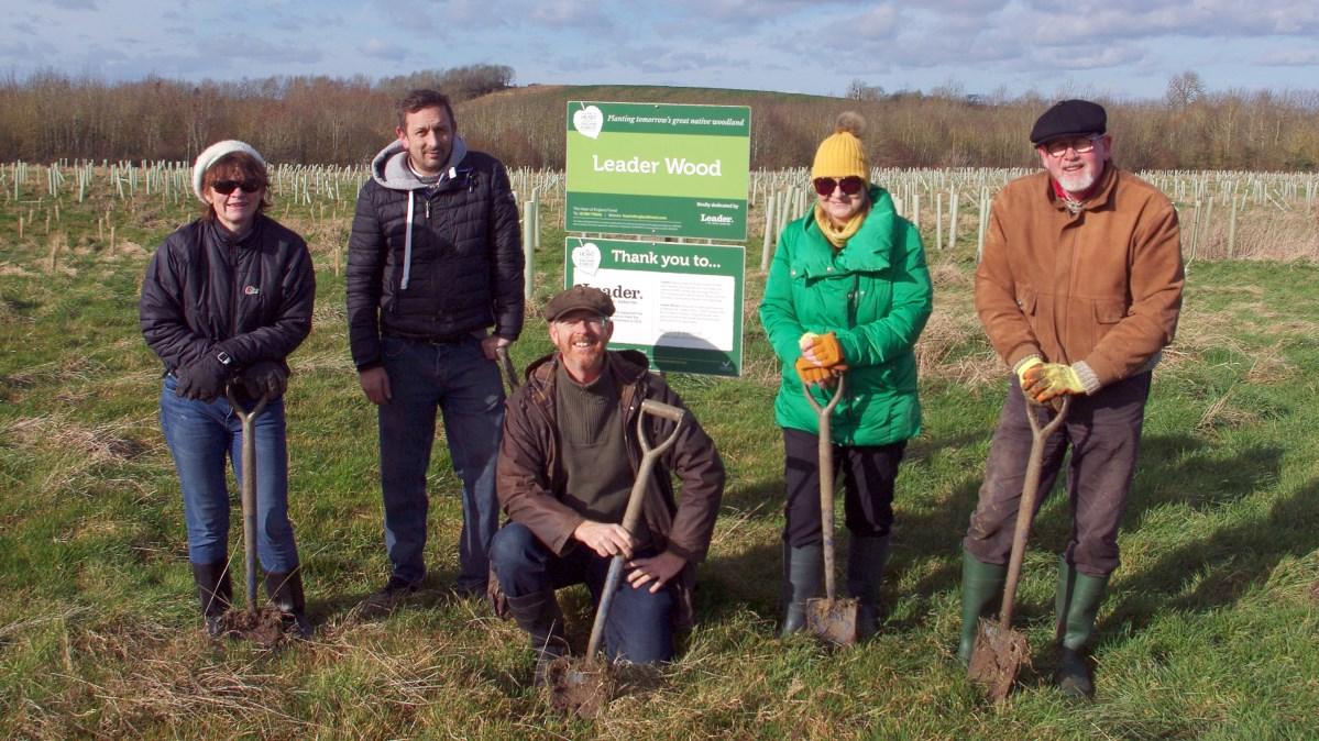 Planting Trees at Leader Wood
