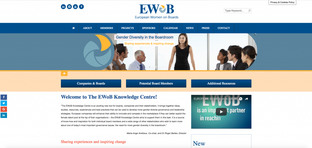 European women on the board website